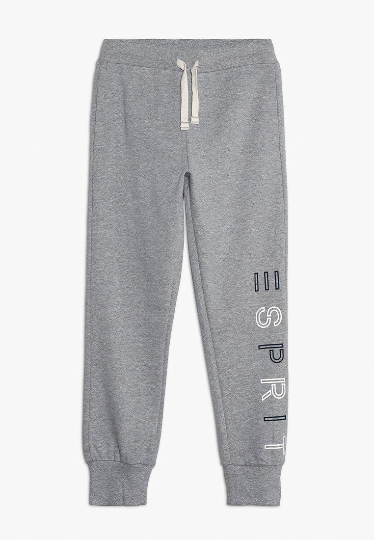 Esprit - KNIT PANTS - Verryttelyhousut - mid heather grey