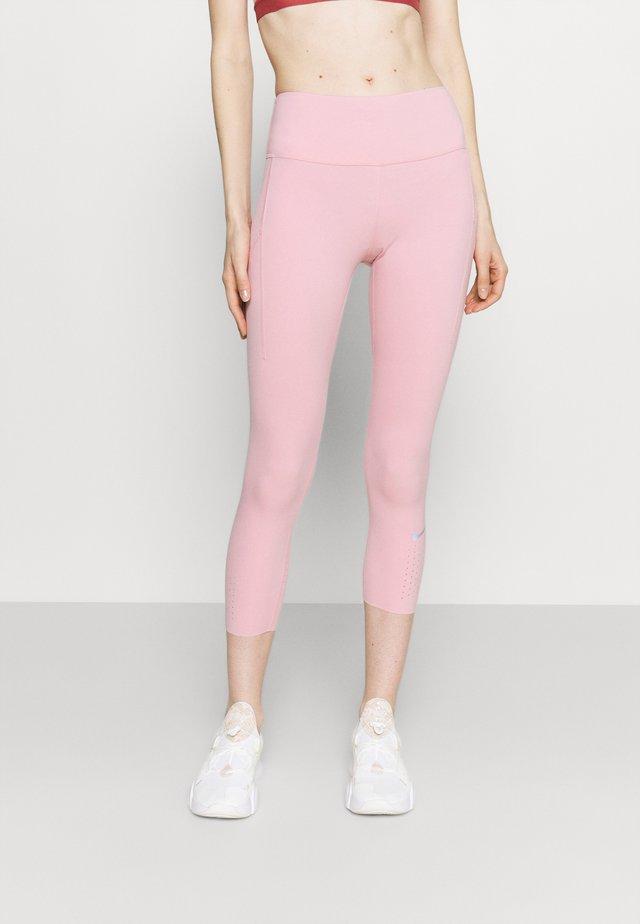 EPIC CROP - Leggings - pink glaze/reflective silver