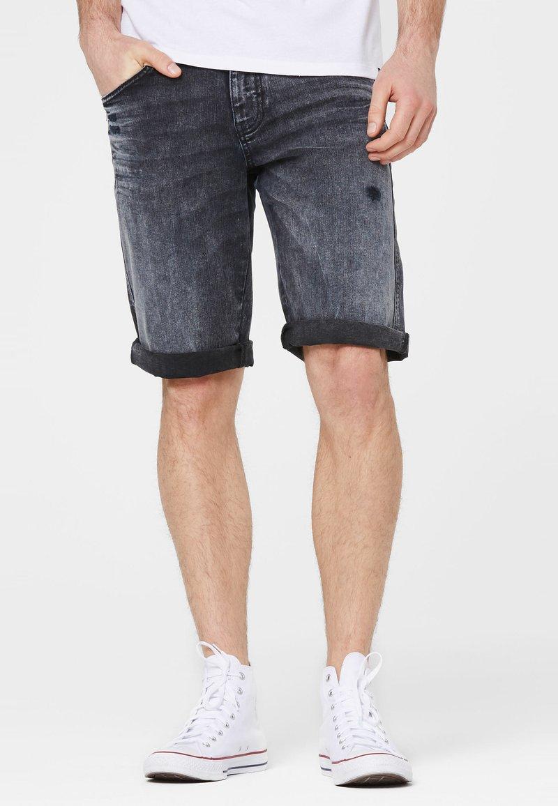 Harlem Soul - Denim shorts - blue black used
