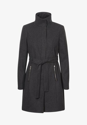 Krátký kabát - dark grey melange