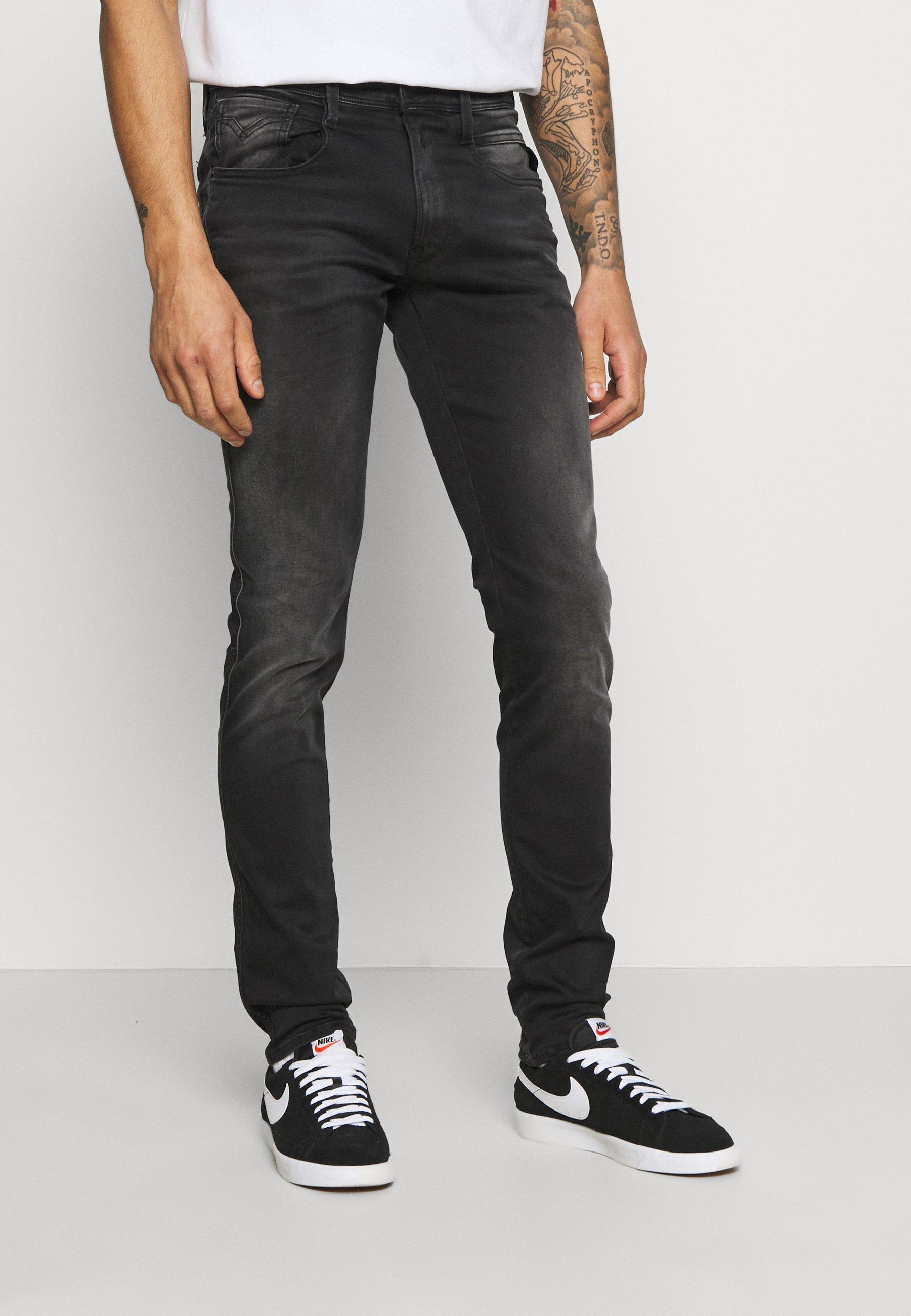 Men ANBASS HYPERFLEX REUSED X LITE - Slim fit jeans