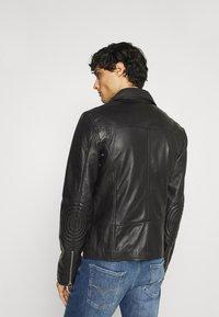Goosecraft - VICK BIKER - Leather jacket - black - 2