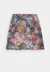 NEW girl ORDER - FLORAL FISH MINI SKIRT - Mini skirt - multi-coloured - 1