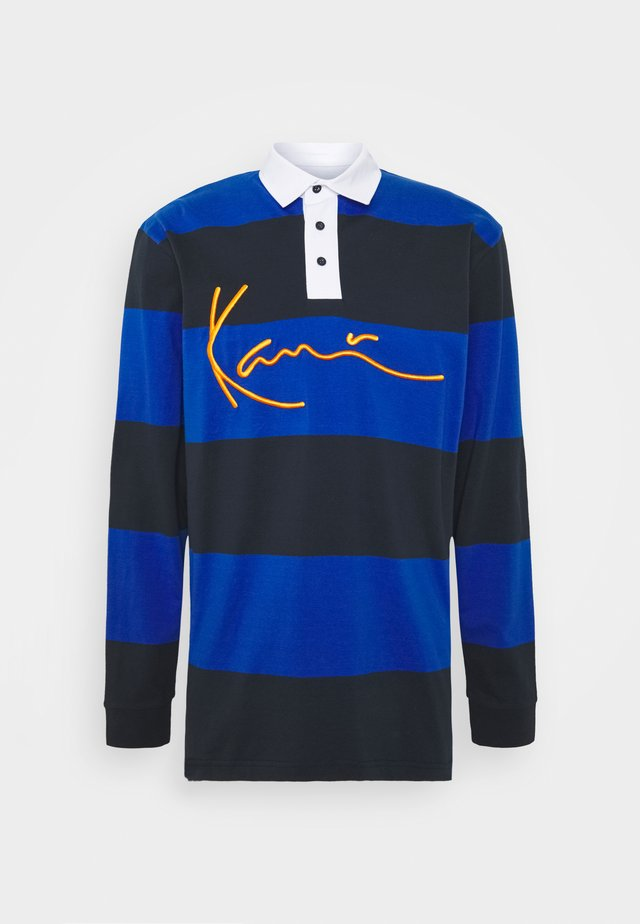 UNISEX SIGNATURE STRIPE RUGBY - Polo - blue