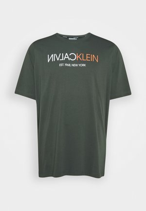 TEXT LOGO - T-shirt con stampa - green