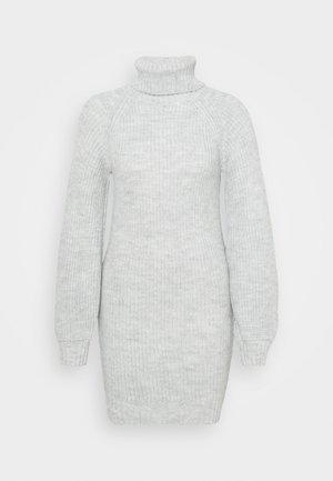 COSY ROLL NECK MINI DRESS - Neulemekko - grey