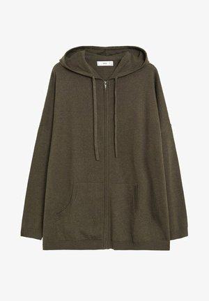 Zip-up hoodie - kaki