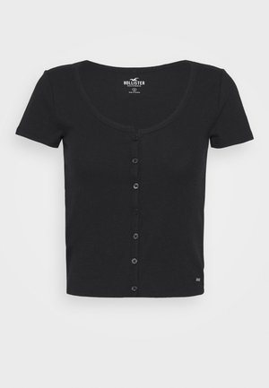 BUTTON THROUGH - T-shirts med print - black