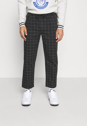 CHECK TROUSER - Trousers - black