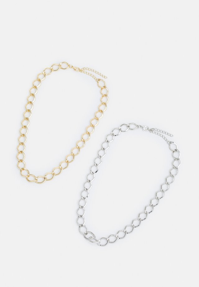 BIG CLASSIC NECKLACE 2 PACK UNISEX - Necklace - gold-coloured/silver-coloured