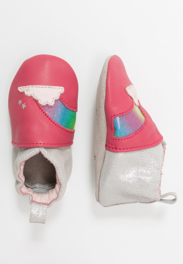 RAINBOW DREAM - First shoes - fuchsia/argent