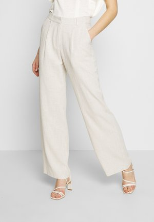 LOOSE PANTS - Trousers - beige