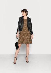 Opus - WENOLA ABSTRACT - Day dress - black/brown - 1