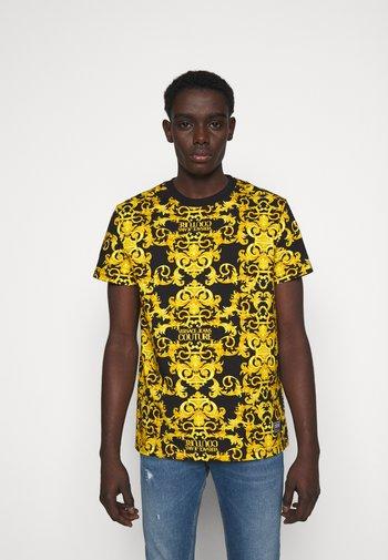 STRETCH LOGO BAROQUE - Print T-shirt -  black