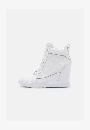 POP WEDGE - High-top trainers - white