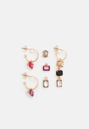 PCKRYSTAL SOLO EARRINGS 6 PACK - Korvakorut - gold-coloured/multi