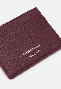 Emporio Armani - CARD HOLDER - Peněženka - vinaccia/grape marc - 3