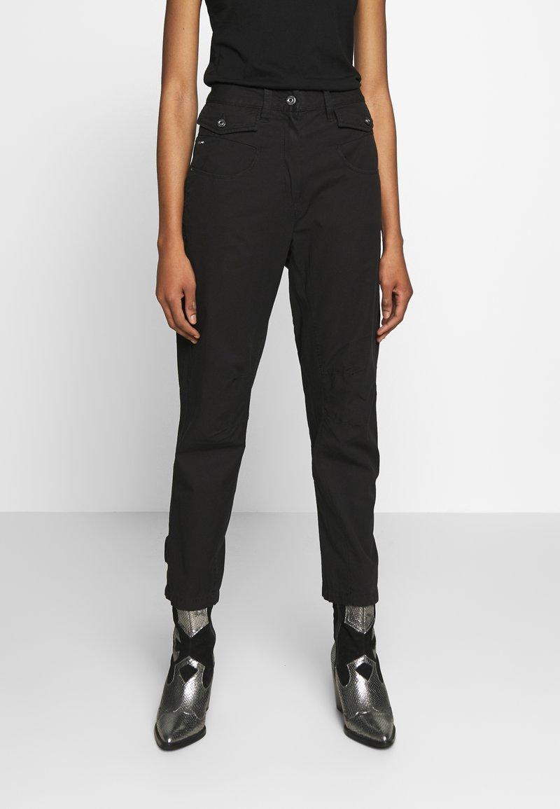 G-Star - ARMY RADAR MID BOYFRIEND ANKLE - Trousers - dk black