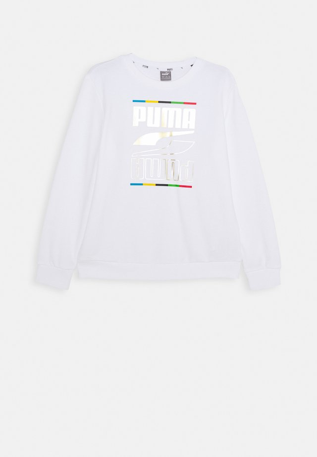 REBEL CREW 5 CONTINENTS  - Sweatshirt - white