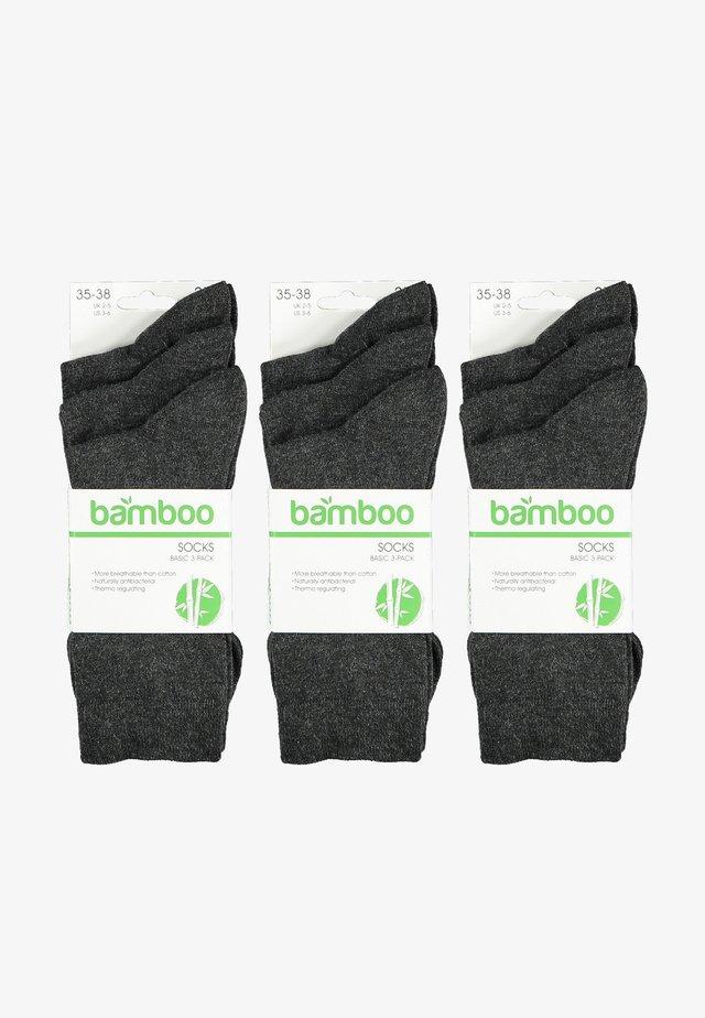 Sokken - antracites melange