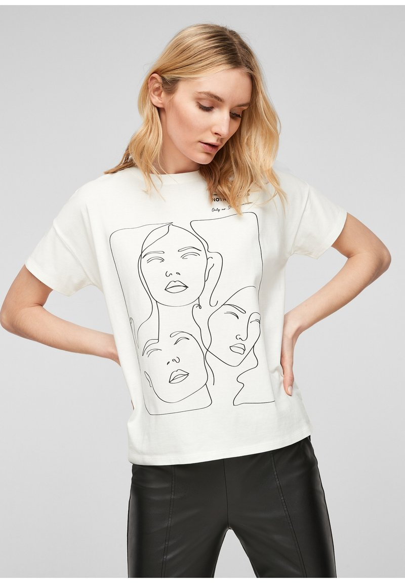 comma - Print T-shirt - white