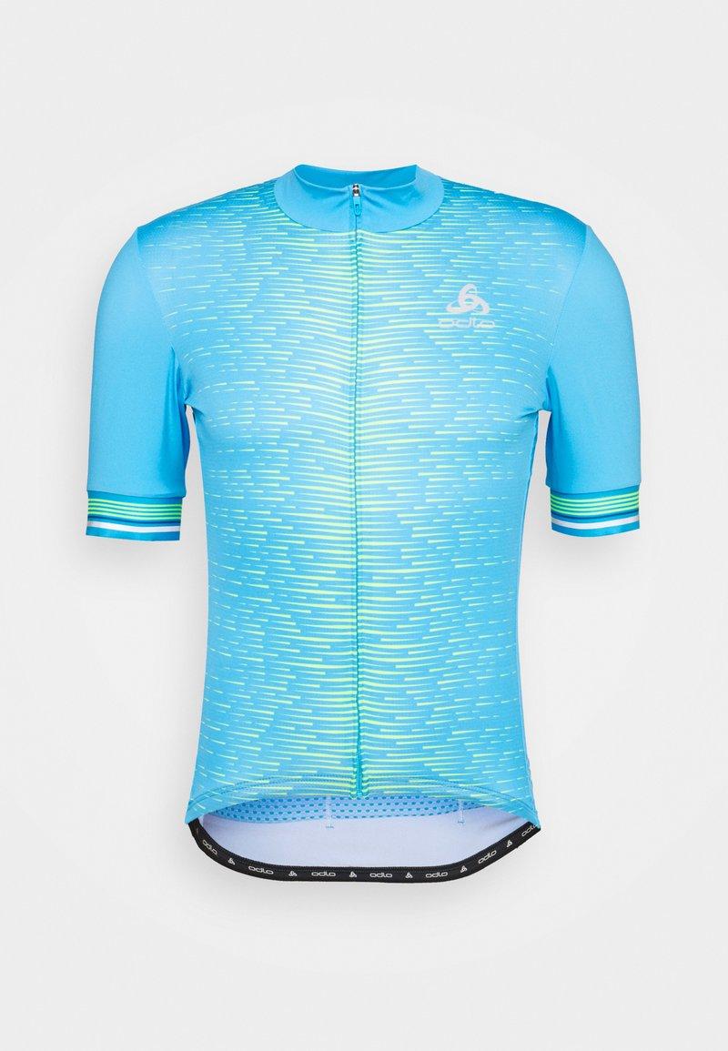 ODLO - STAND UP COLLAR FULL ZIP - Cyklistický dres - horizon blue