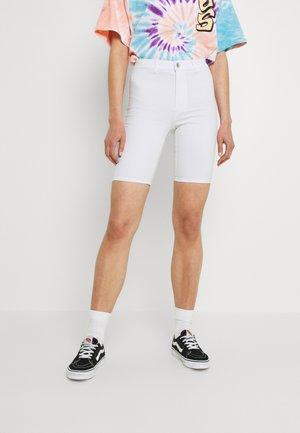 ONLROYAL BIKE - Denim shorts - white