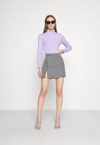 WAL G. - GEMMA DOG TOOTH SKIRT - Mini skirt - black/white - 1