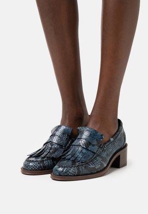 SHOE PRINT - Classic heels - blue