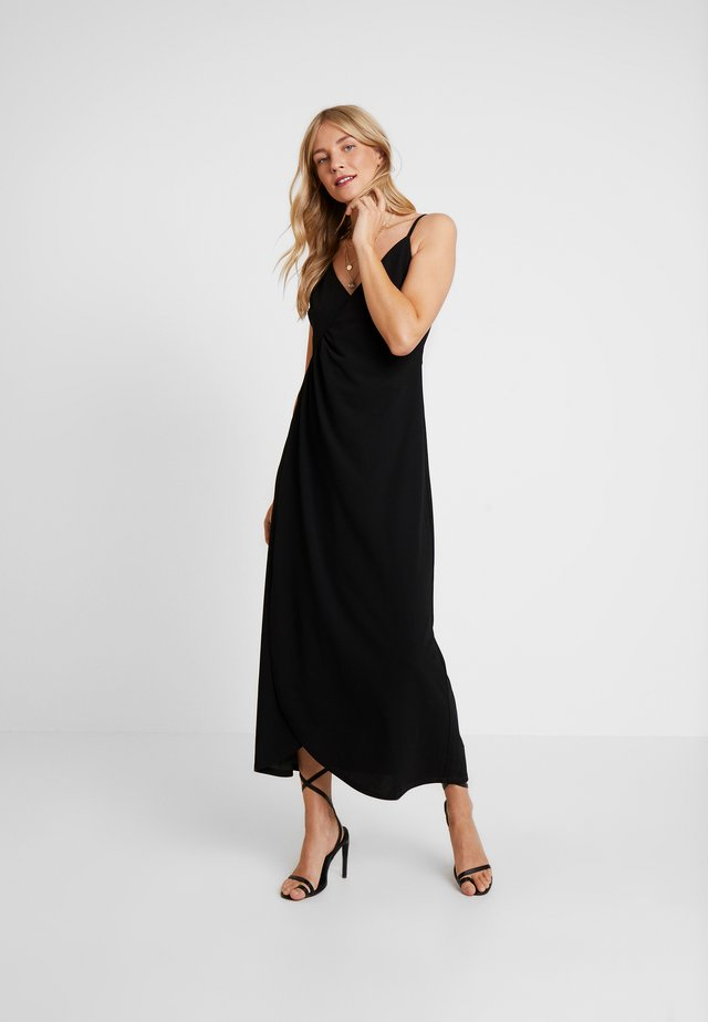 LUCY DRESS - Maxi dress - pitch black