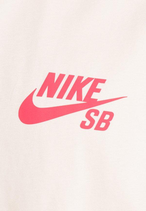 Nike SB TEE LOGO UNISEX - T-shirt z nadrukiem - orange pearl/jasnorÓżowy Odzież Męska VCDL