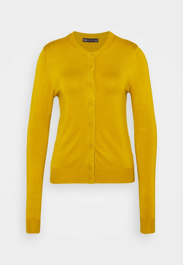 CREW CARDI PLAIN - Cardigan - yellow
