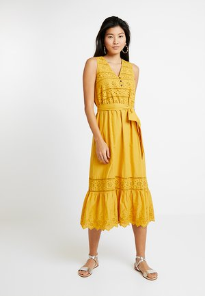 60´S CAMBRIC  - Shirt dress - brass yellow