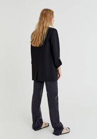 PULL&BEAR - Halflange jas - black - 2