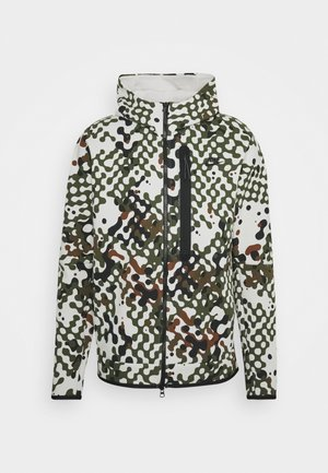 HOODIE REACT - Zip-up sweatshirt - rough green/light bone/black