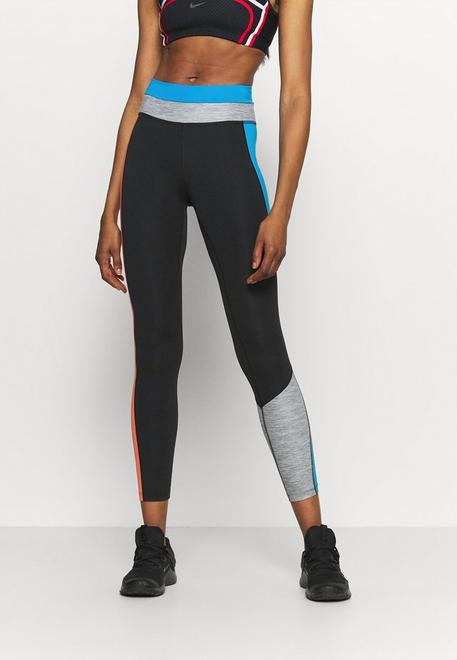 ONE 7/8 - Legging - black/light photo blue/chile red/black