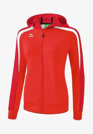 LIGA 2.0 TRAININGSKAPUZENJACKE DAMEN - Training jacket - rot / dunkelrot
