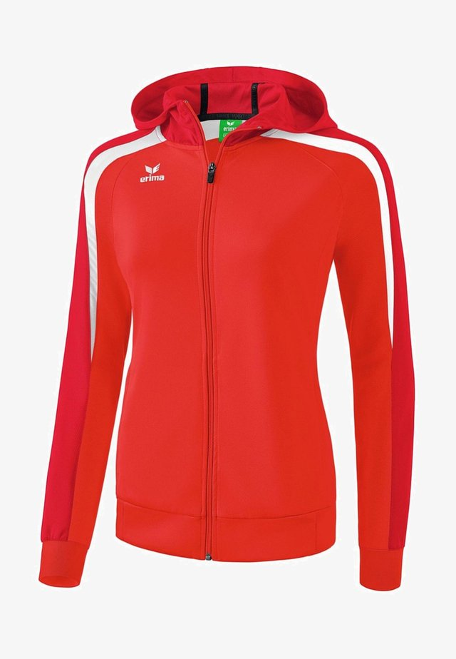 LIGA 2.0 TRAININGSKAPUZENJACKE DAMEN - Training jacket - rot / dunkelrot