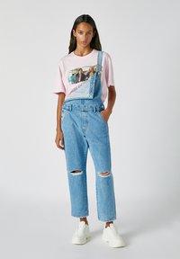 PULL&BEAR - Print T-shirt - rose - 3