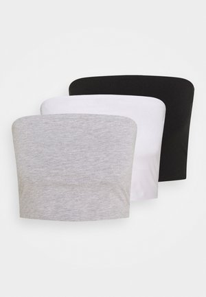3 PACK - Topper - black/white/grey