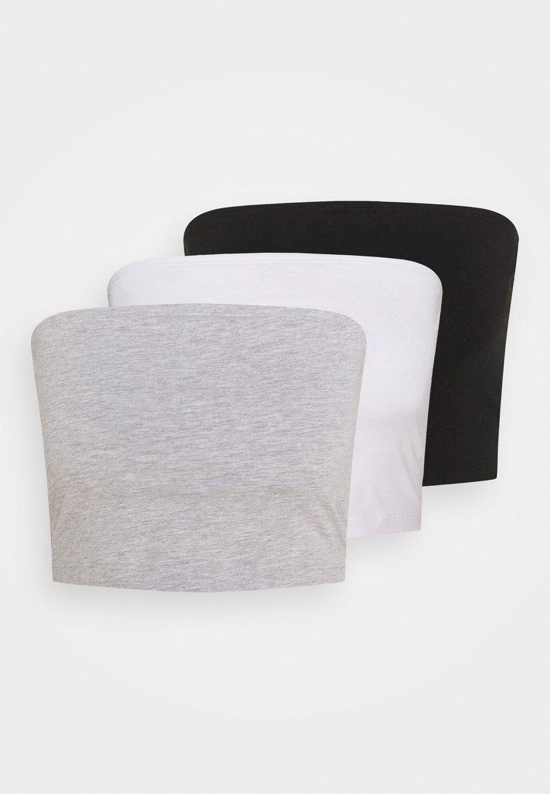 Even&Odd - 3 PACK - Top - black/white/grey