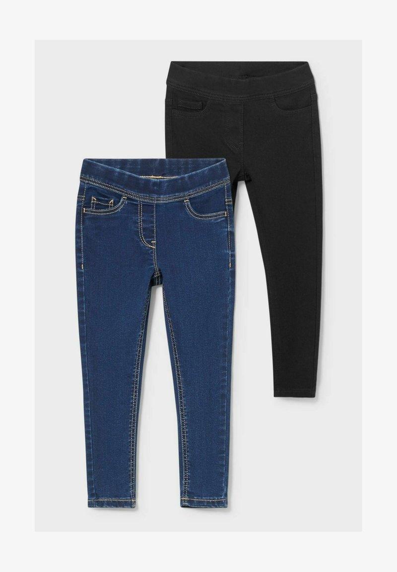 C&A - 2 PACK - Jeans Skinny Fit - denimdark blue