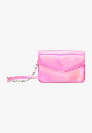Taška spříčným popruhem - pink holo