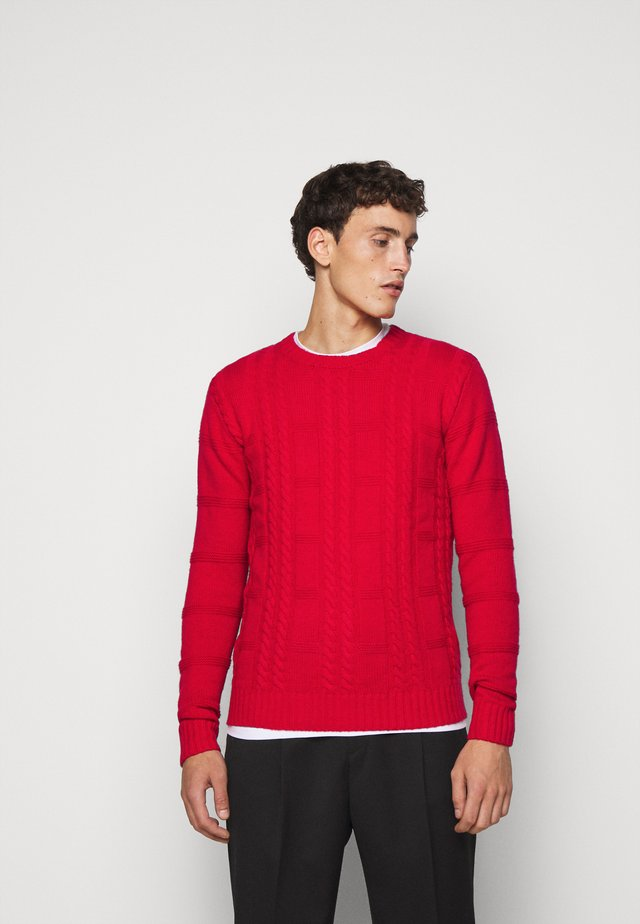 GREENE CABLE - Pullover - red