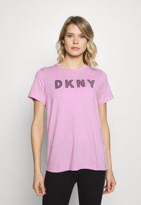 DKNY - TRACK LOGO - Print T-shirt - rosebud - 0