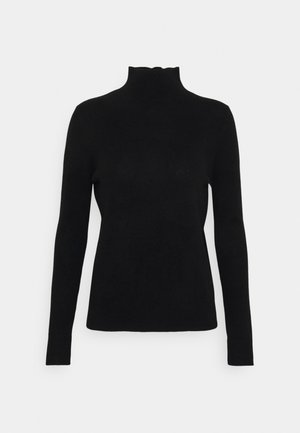 SIMPLE HIGH NECK - Jumper - black