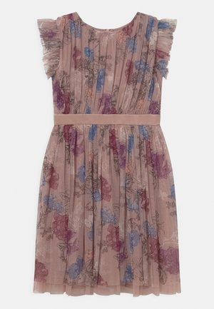 PRINTED DRESS WITH BOW BACK - Cocktailjurk - mauve romantic