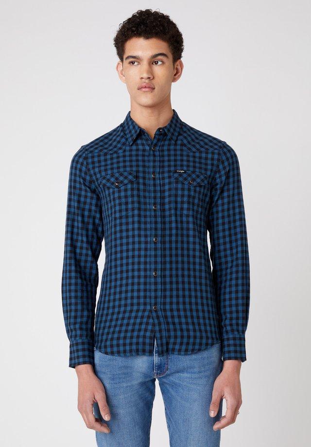 LS WESTERN - Camisa - dark blue teal