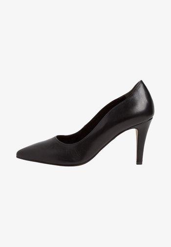 COURT SHOE - Zapatos altos - black leather