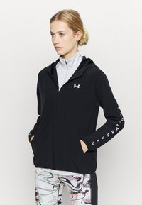 Under Armour - HOODED JACKET - Chaqueta de deporte - black - 0